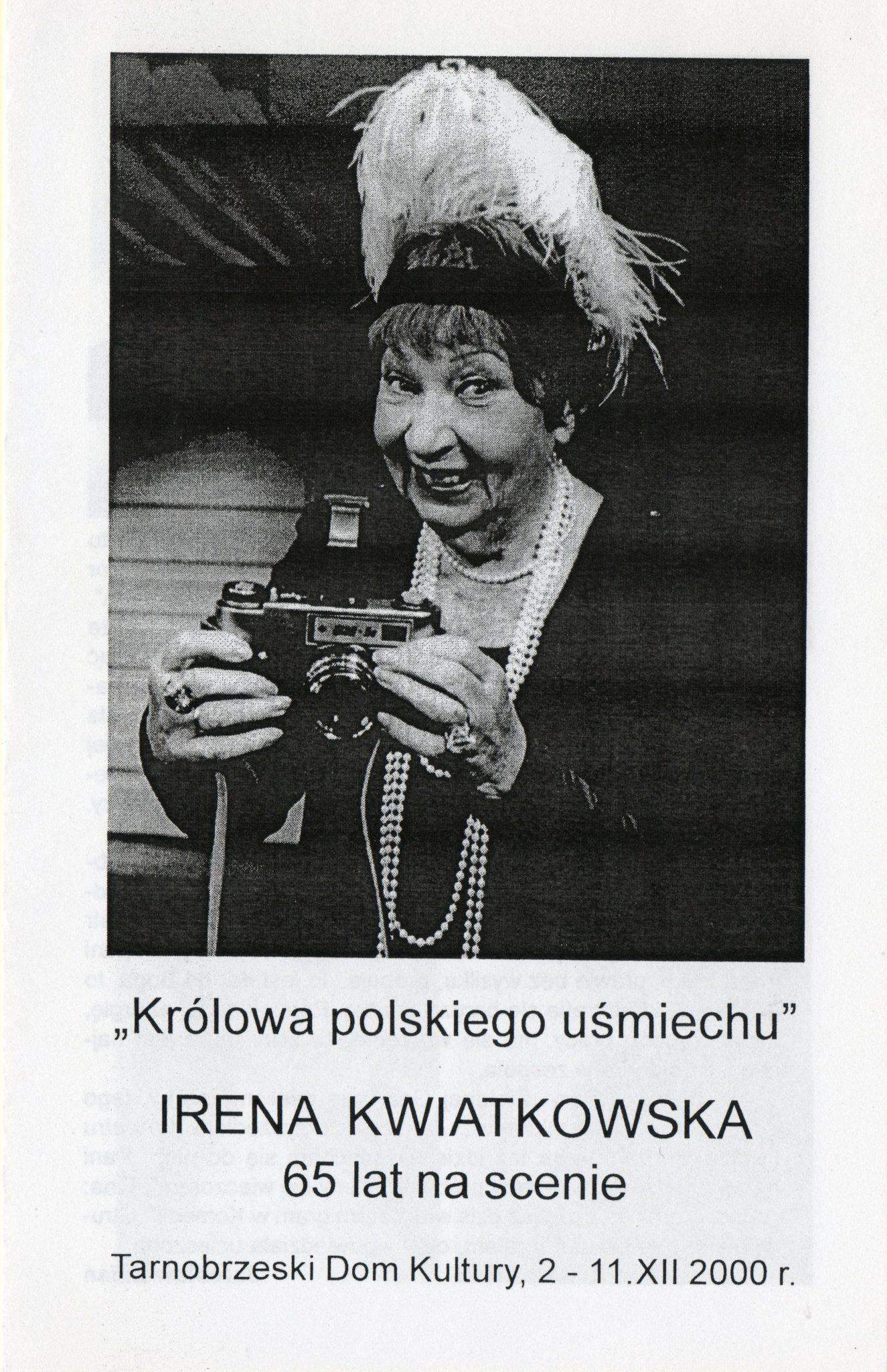 Irena Kwiatkowska 65 lat nascenie