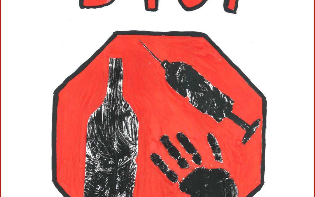 VIII Edycja Konkursu Plastycznego STOP! przemocy, dopalaczom iużywkom podkażdą postacią – ogłoszenie wyników iotwarcie wystawy.