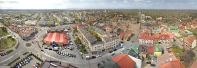 Panorama Tarnobrzega i okolic – fotografia wielkoformatowa