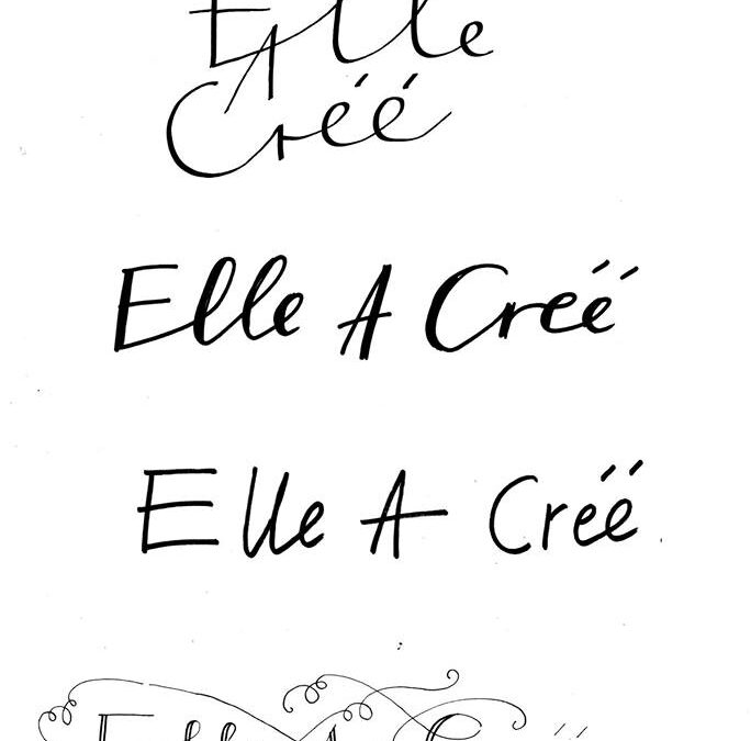 """Elle A Créé""   wystawa plakatów autorskich   Luty 2019r."